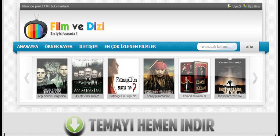 Wordpress film sinema temaları açıklamalar özellikler ile beraber